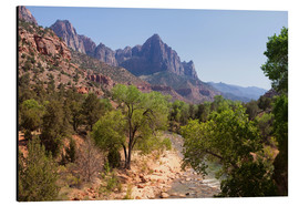 Aluminium print  Vereinigte Staaten, Zion National Park, The Watchman, Virgin River - Catharina Lux