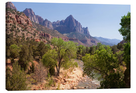 Canvas print  Vereinigte Staaten, Zion National Park, The Watchman, Virgin River - Catharina Lux