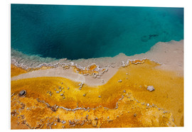 Foam board print  Yellowstone National Park, West Thumb Geyser Basin, Vereinigte Staaten - Catharina Lux