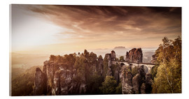 Acrylic print  View to the bridge of the Basle in Saxon Switzerland - Jörg Simanowski
