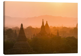Canvas  Sunrise over the ancient temples of Bagan II - Harry Marx