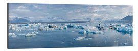 Aluminium print  Glacier lagoon in the morning light, Jökulsarlon, Iceland - Catharina Lux