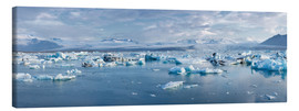Canvas print  Glacier lagoon in the morning light, Jökulsarlon, Iceland - Catharina Lux