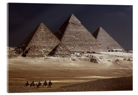 Acrylic print  Pyramids of Giza, Middle East - Catharina Lux