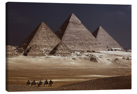 Canvas print  Pyramids of Giza, Middle East - Catharina Lux