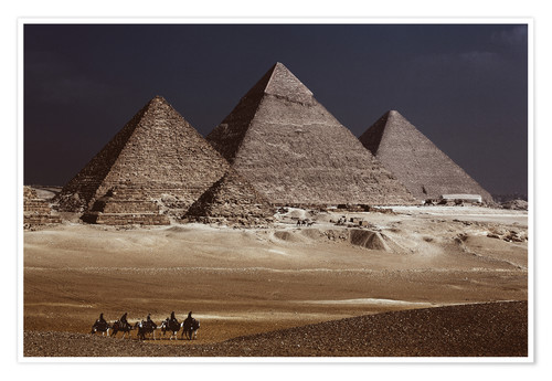 Premium poster Pyramids of Giza, Middle East