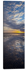 Canvas print  Sunrise in the mud, near List - Rainer Mirau