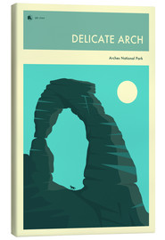 Canvas print  Delicate Arch - Jazzberry Blue