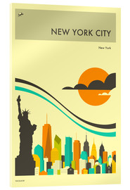 Acrylic print  NEW YORK CITY TRAVEL POSTER - Jazzberry Blue