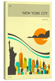 Canvas print  NEW YORK CITY TRAVEL POSTER - Jazzberry Blue