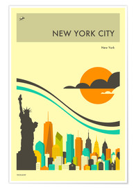 Premium poster NEW YORK CITY TRAVEL POSTER