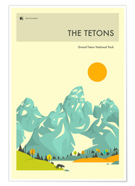 Premium poster GRAND TETON NATIONAL PARK POSTER