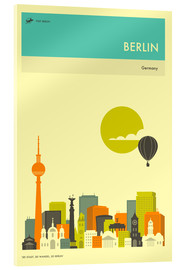 Acrylic print  BERLIN TRAVEL POSTER - Jazzberry Blue