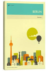 Canvas print  BERLIN TRAVEL POSTER - Jazzberry Blue