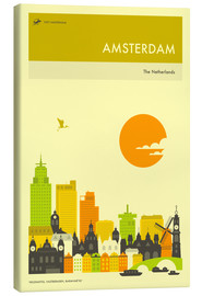 Canvas print  AMSTERDAM TRAVEL POSTER - Jazzberry Blue