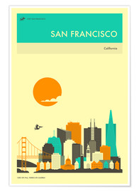 Jazzberry Blue - SAN FRANCISCO TRAVEL POSTER