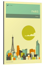 Aluminium print  Paris - Jazzberry Blue
