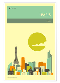 Premium poster  Paris - Jazzberry Blue