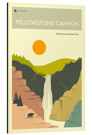 Aluminium print  Yellowstone Canyon - Jazzberry Blue