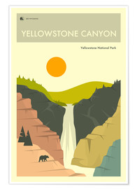 Poster  YELLOWSTONE NATIONAL PARK POSTER - Jazzberry Blue