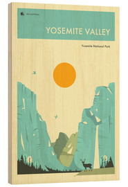 Wood print  Yosemite National Park - Jazzberry Blue