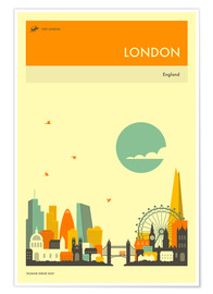 Premium poster  London - Jazzberry Blue