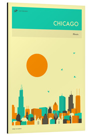 Aluminium print  Chicago - Jazzberry Blue