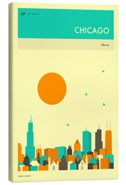 Canvas  CHICAGO TRAVEL POSTER - Jazzberry Blue