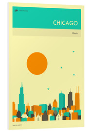 Forex  CHICAGO TRAVEL POSTER - Jazzberry Blue
