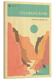 Wood  GRAND CANYON NATIONAL PARK POSTER - Jazzberry Blue