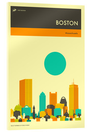 Acrylic print  Boston - Jazzberry Blue