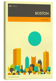 Canvas print  Boston - Jazzberry Blue