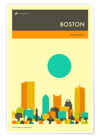 Premium poster  Boston - Jazzberry Blue