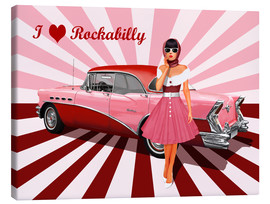 Canvas print  I love Rockabilly - Monika Jüngling