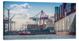 Canvas print  Fish market, port, container terminal - Ingo Boelter