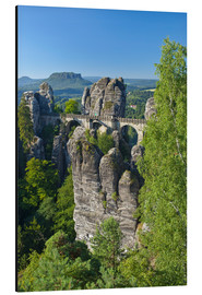 Aluminium print  Bastei bridge in the Elbsandsteingebirge - Chris Seba