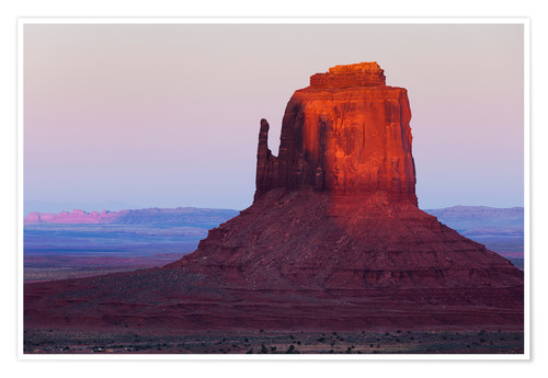 Premium poster Monument Valley at sunset