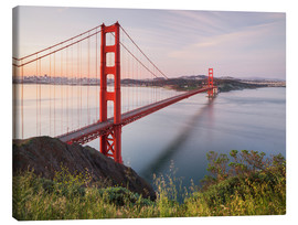 Canvas  Vereinigte Staaten von Amerika, Golden Gate Bridge, San Francisco - Rainer Mirau