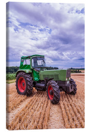Canvas print  Fendt Favorit 4S on a stubble field - Bernd Wittelsbach