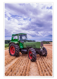 Premium poster  Fendt Favorit 4S on a stubble field - Bernd Wittelsbach