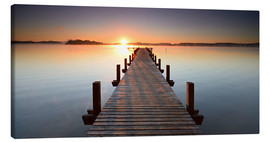 Canvas print  Footbridge at sunrise - Andreas Vitting