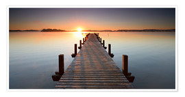 Premium poster  Footbridge at sunrise - Andreas Vitting
