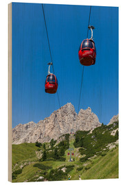 Wood print  Cable Car Frara, South Tyrol - Gerhard Wild
