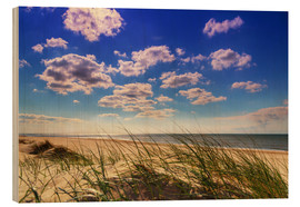 Wood print  Blue sky with clouds on Texel - Beate Margraf