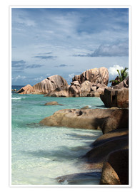 Premium poster Tropical beach in the Seychelles