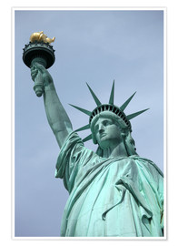 Poster  Statue of Liberty in the portrait - Catharina Lux