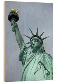 Wood print  Statue of Liberty in the portrait - Catharina Lux
