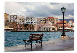 Acrylic print  Venetian harbor on Crete, Greece - Catharina Lux