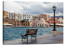 Canvas print  Venetian harbor on Crete, Greece - Catharina Lux