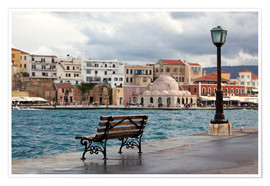 Premium poster  Venetian harbor on Crete, Greece - Catharina Lux